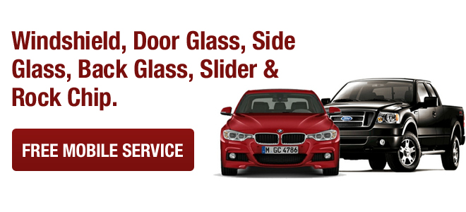 Window Glass, door glass, side glass, back glass, slider and rock chips are repaired with our mobile auto glass service.
